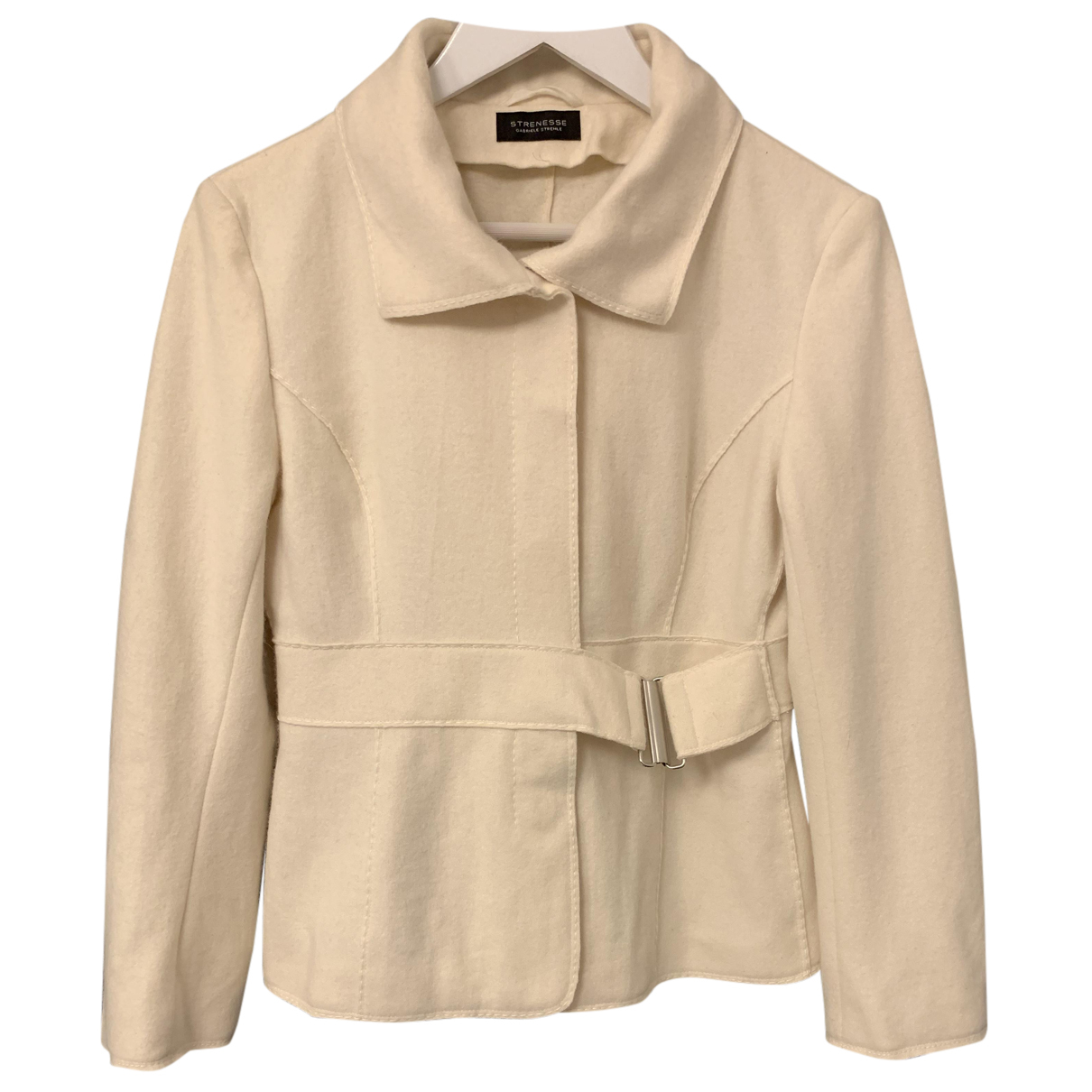 Strenesse - Veste   pour femme en laine - ecru