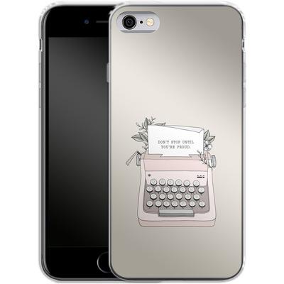 Apple iPhone 6s Silikon Handyhuelle - Dont Stop von Barlena