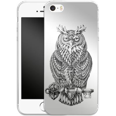 Apple iPhone 5 Silikon Handyhuelle - Great Horned Owl von BIOWORKZ