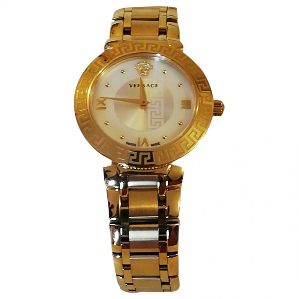 Versace \N Uhr in  Gold Vergoldet
