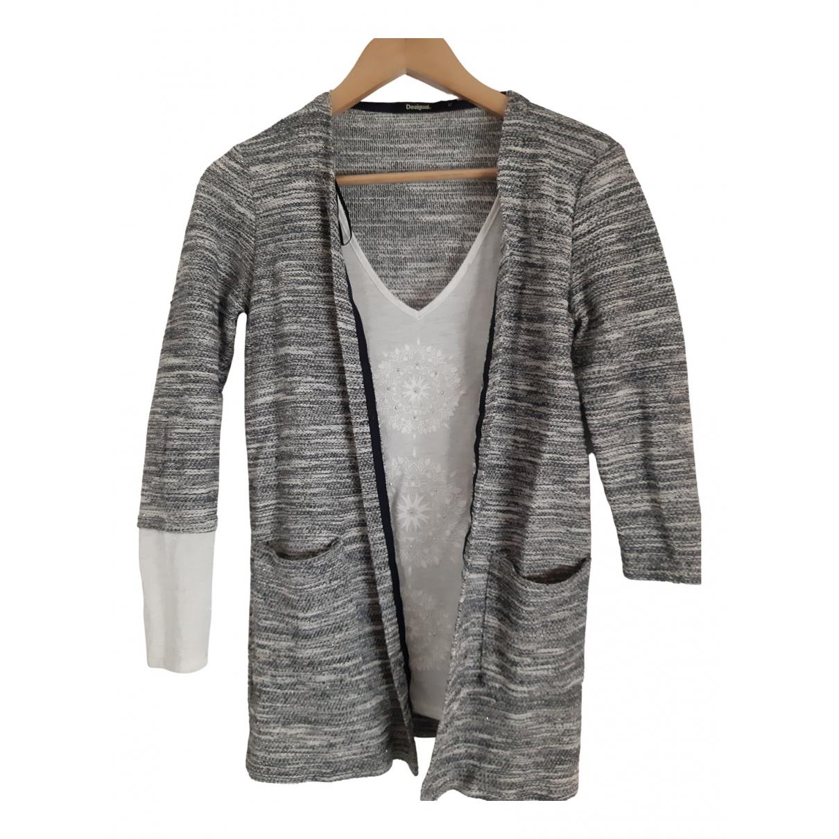 Desigual - Veste   pour femme en coton - gris