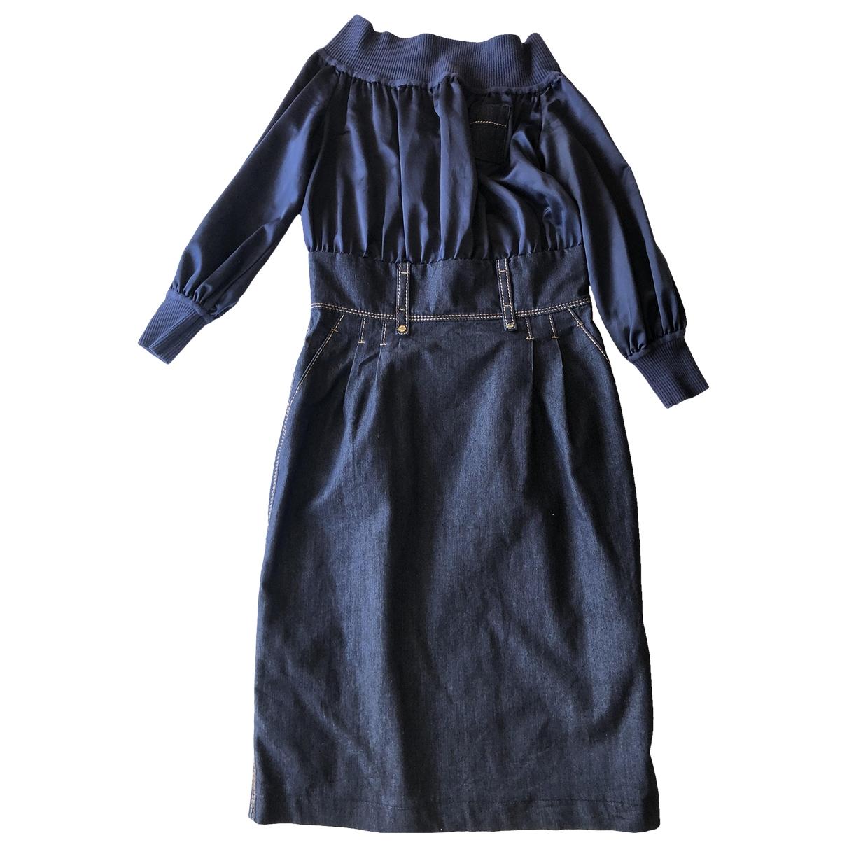 Adolfo Dominguez - Robe   pour femme en denim - bleu