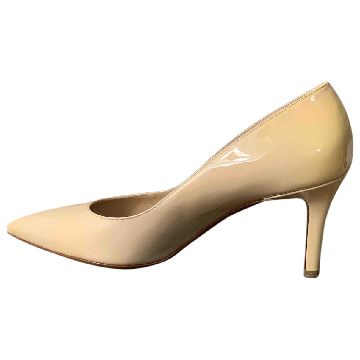 Fratelli Rossetti - Escarpins   pour femme en cuir verni - beige