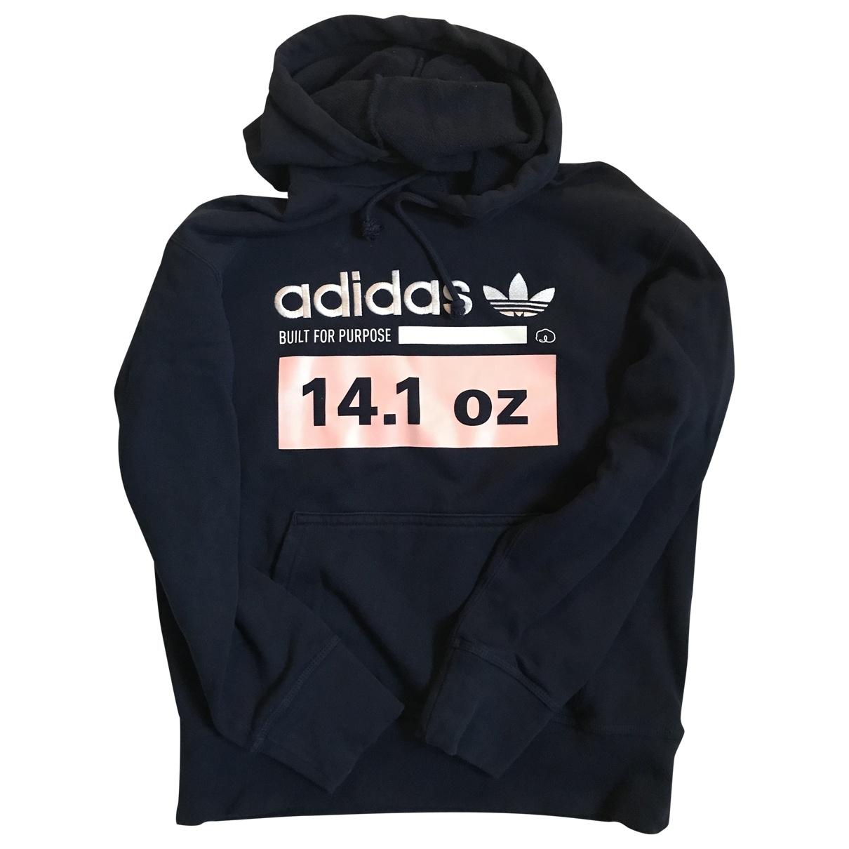 Adidas - Pull   pour femme en coton - bleu