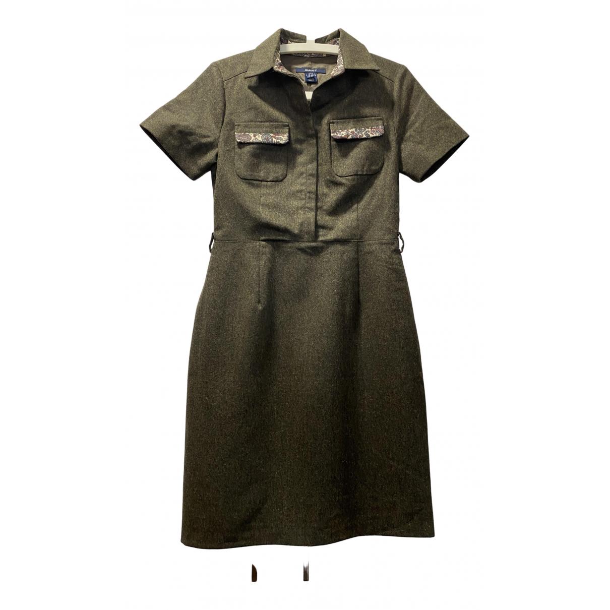 Gant \N Kleid in  Khaki Wolle