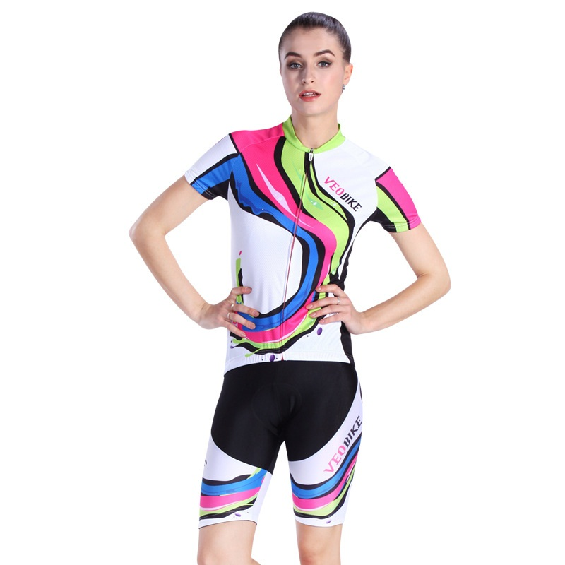 New Bright 3D Padded Pants Comfortable Women's Cycling Jersey