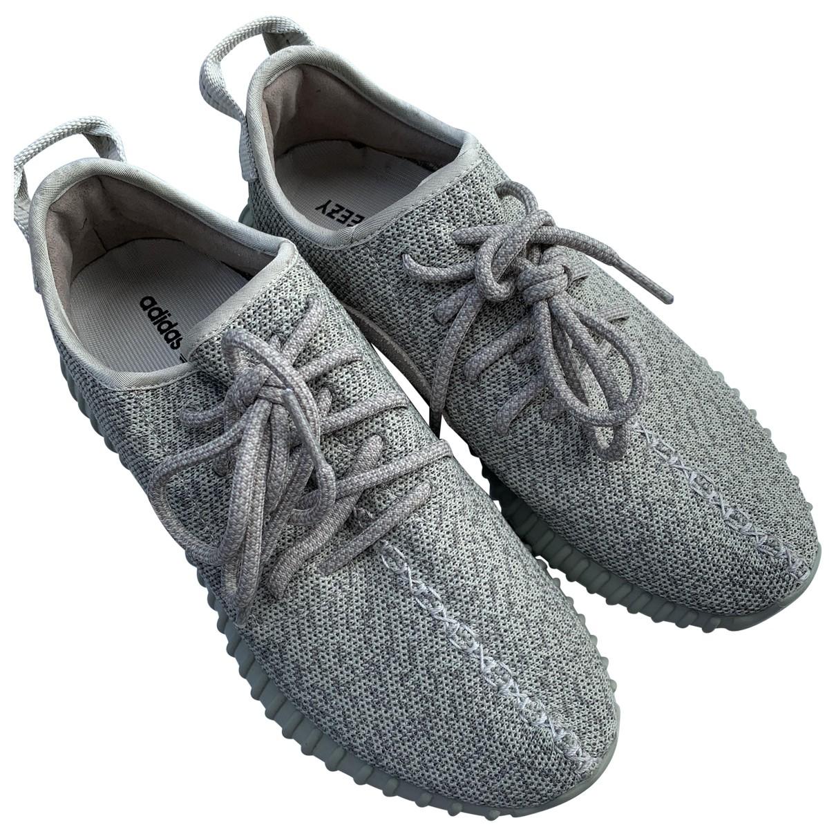 Yeezy X Adidas - Baskets   pour homme en toile - gris