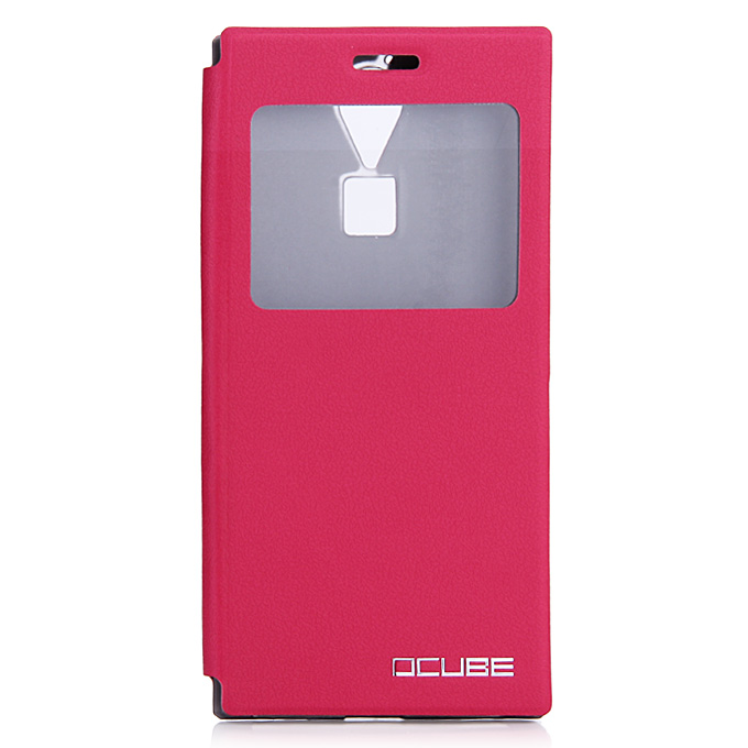 Protective Hard Cover Flip Stand Leather Case for DOOGEE F5/F5 PRO - Rose