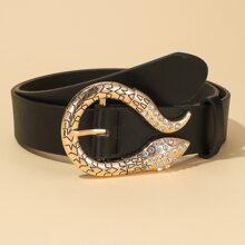 Cinturon con hebilla serpiente