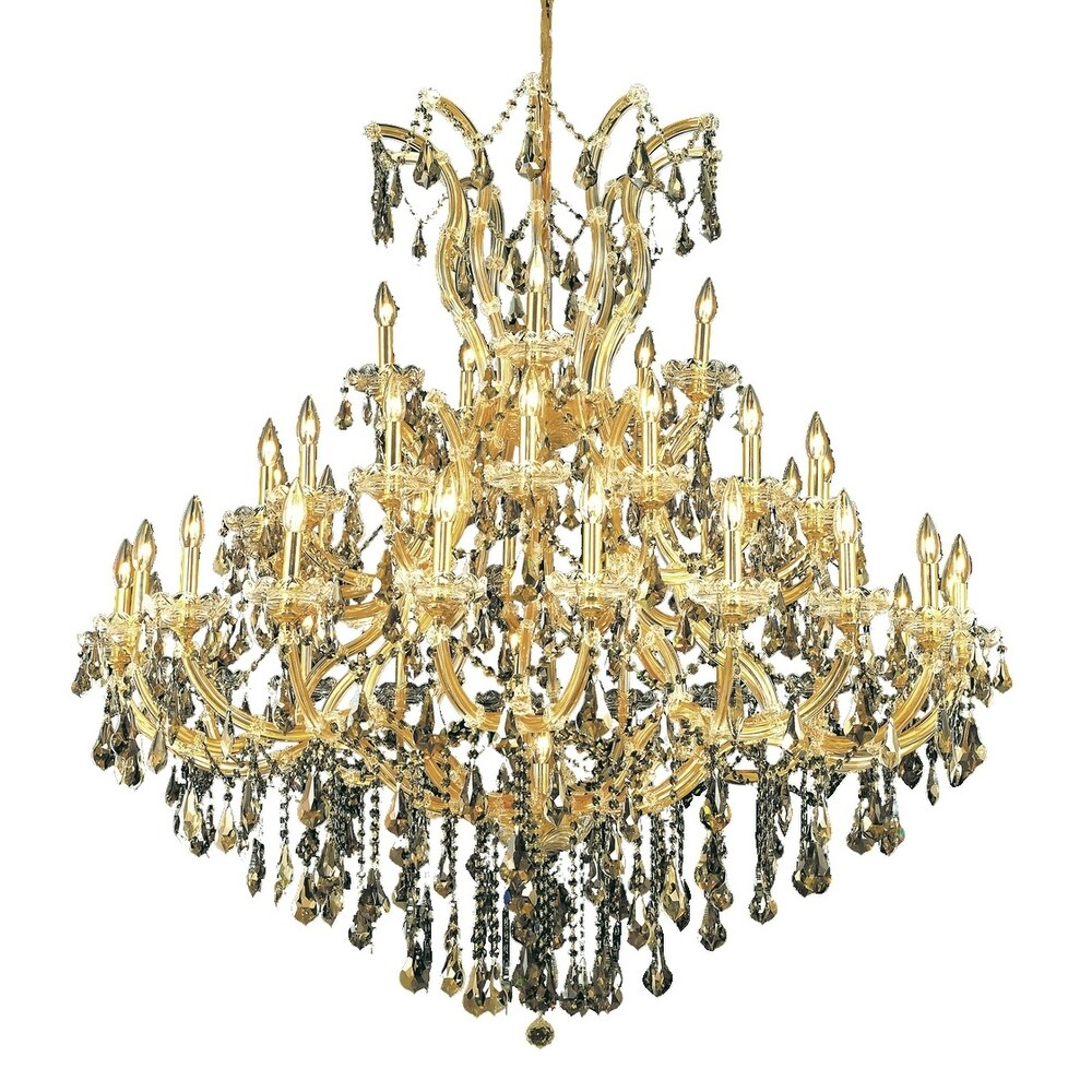 Fleur Illumination 41 light Gold Chandelier (royal cut crystals/Gold)