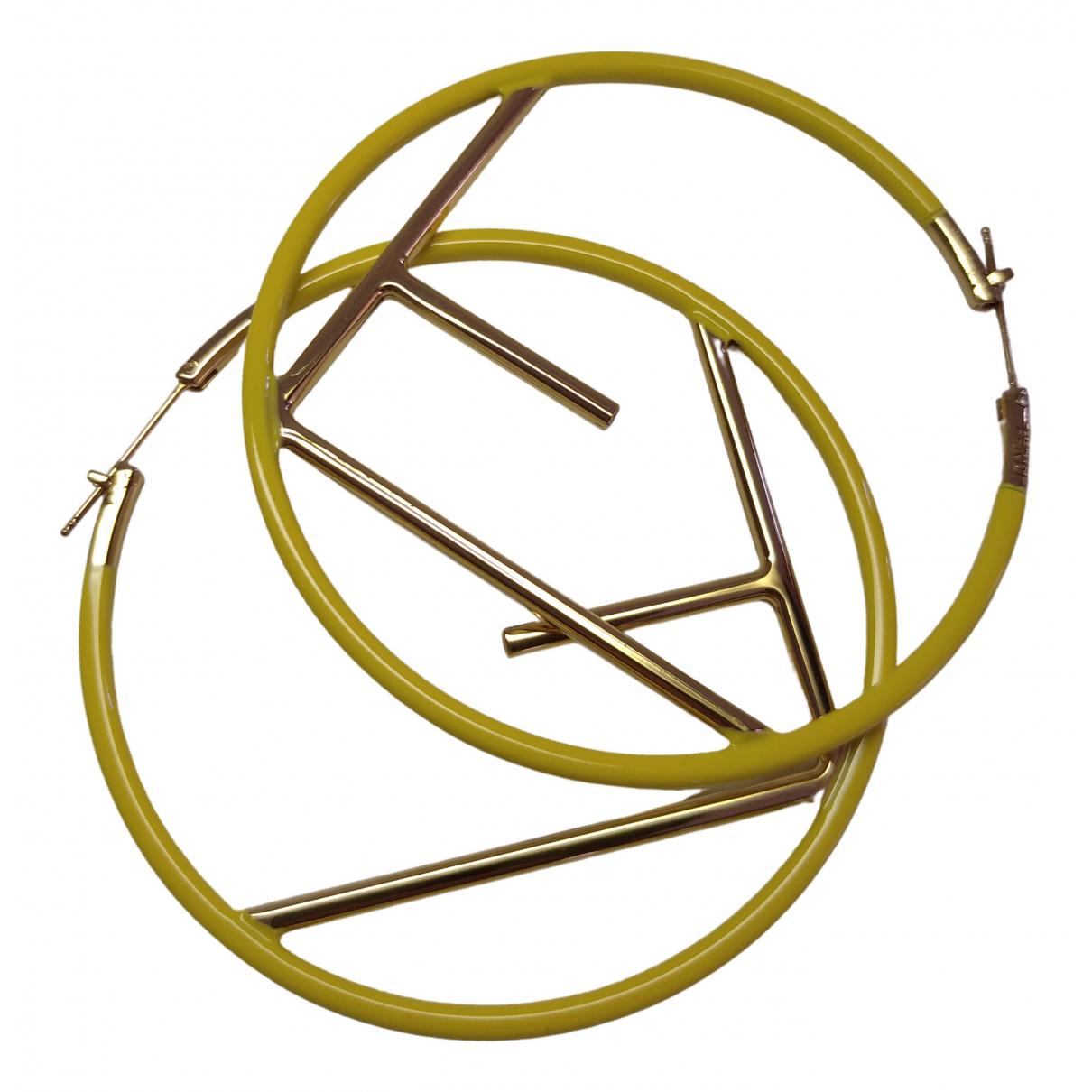 Fendi The Fendista OhrRing in  Gelb Metall