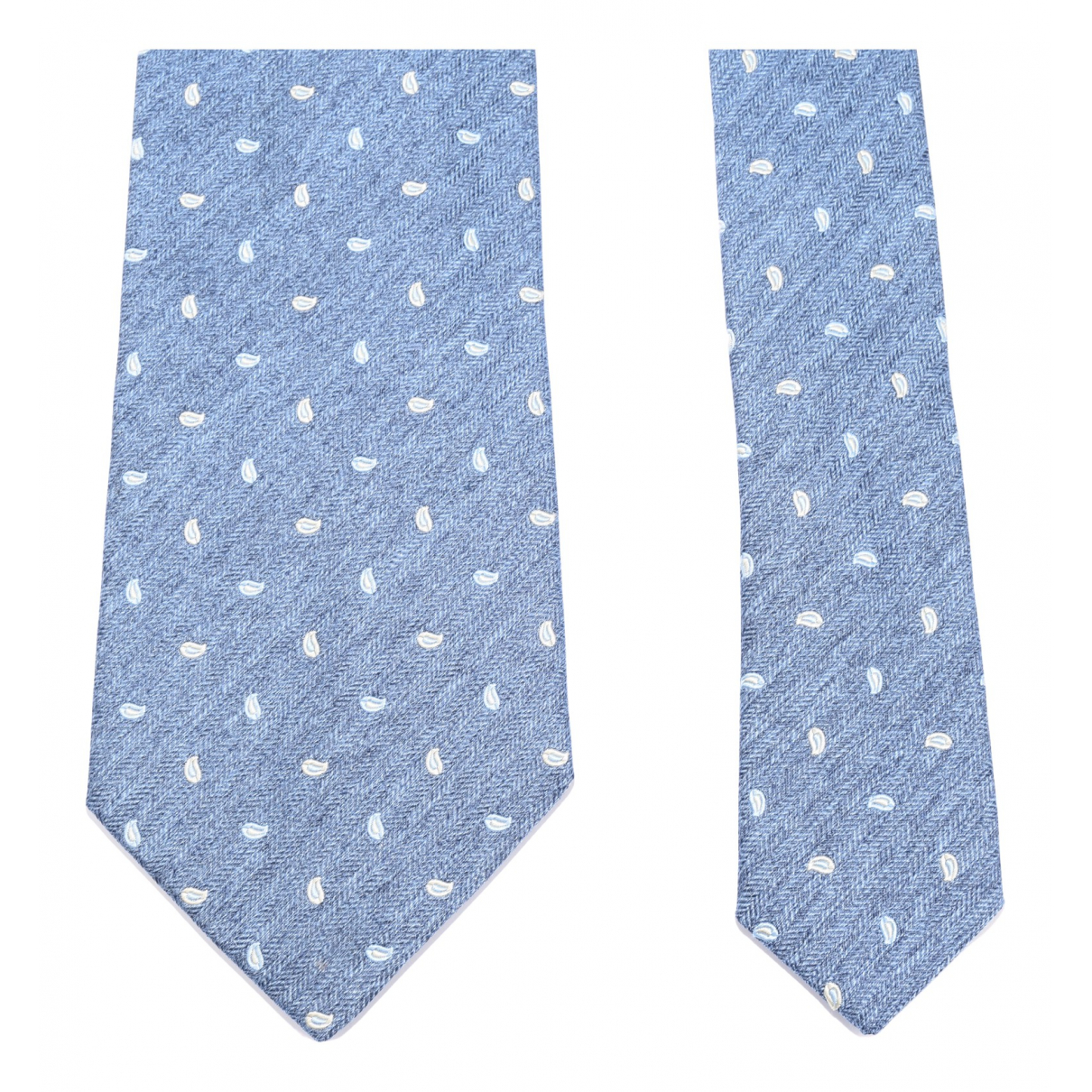 Borrelli N Blue Silk Ties for Men N