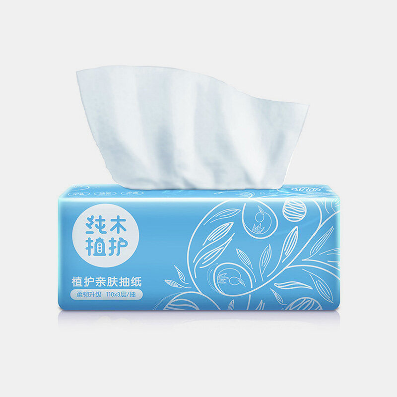 3 Layers Skin-friendly Household Napkin Paper 110 Pumps Native Bamboo Pulp Household Napkin Paper