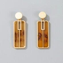 Geo Design Drop Earrings