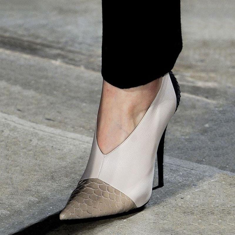 Ericdress Slip-On Stiletto Heel Pointed Toe Sweet Women's Prom Shoes