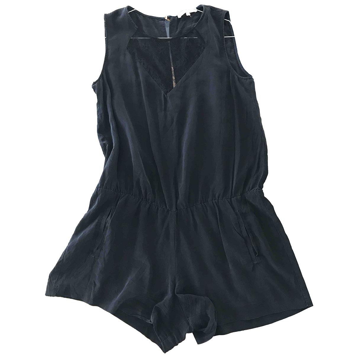 Maje - Combinaison   pour femme en soie - noir