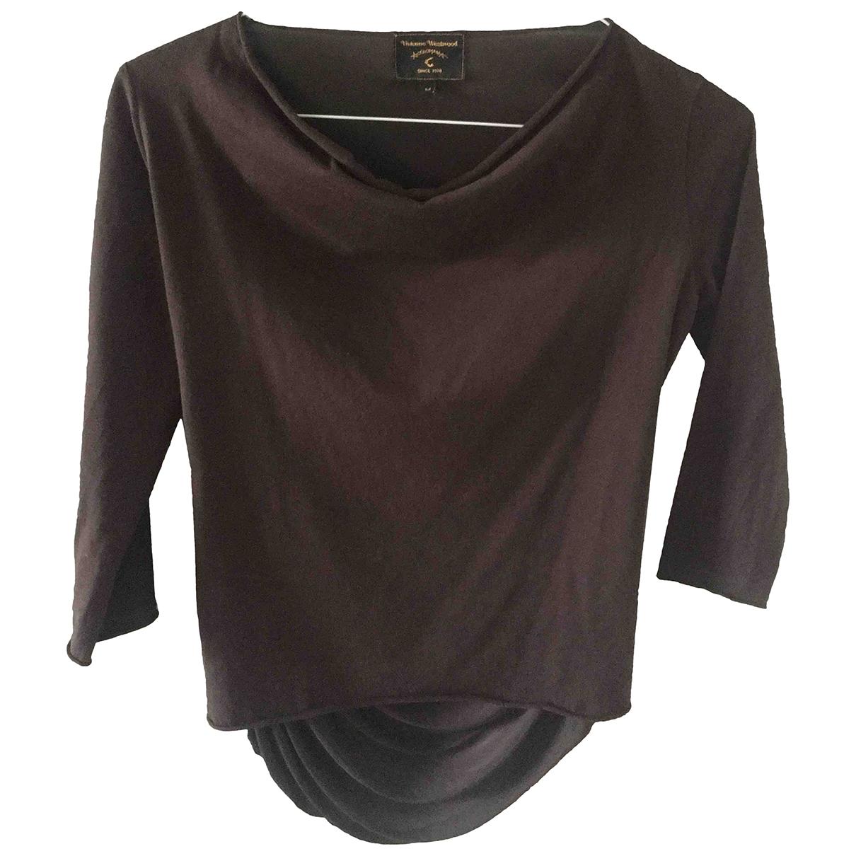 Vivienne Westwood Anglomania - Pull   pour femme en coton - marron