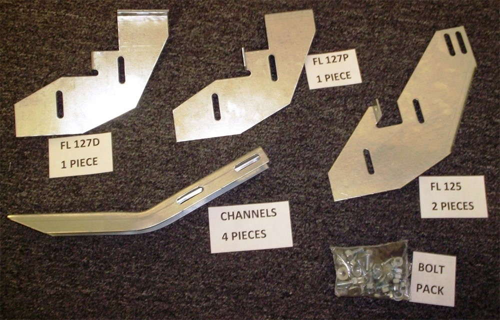 Owens Products BK243 Running Board Mounting Bracket Kit For 2183-01 (Must Order Separately) 06-14 Honda Ridgeline Heavy Gauge Steel Silver