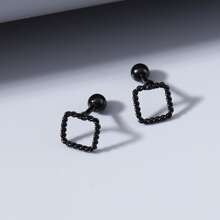 Hollow Out Square Stud Earrings