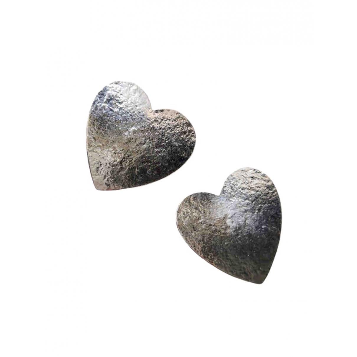 Yves Saint Laurent - Boucles doreilles   pour femme en metal - argente