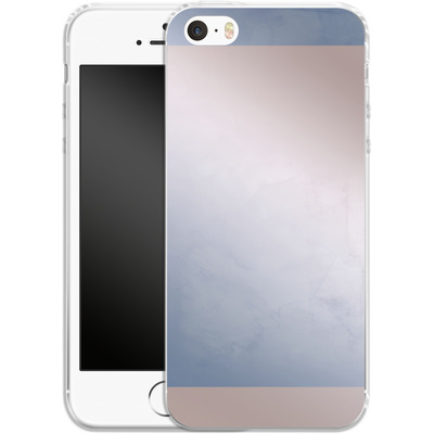 Apple iPhone 5s Silikon Handyhuelle - Serenity Rose Quartz Geometry von Emanuela Carratoni