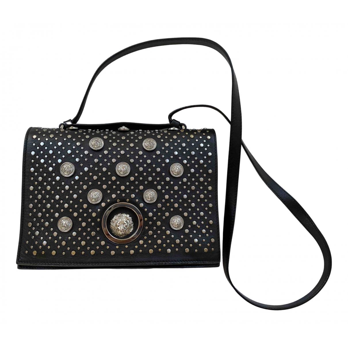 Versus \N Handtasche in  Schwarz Leder