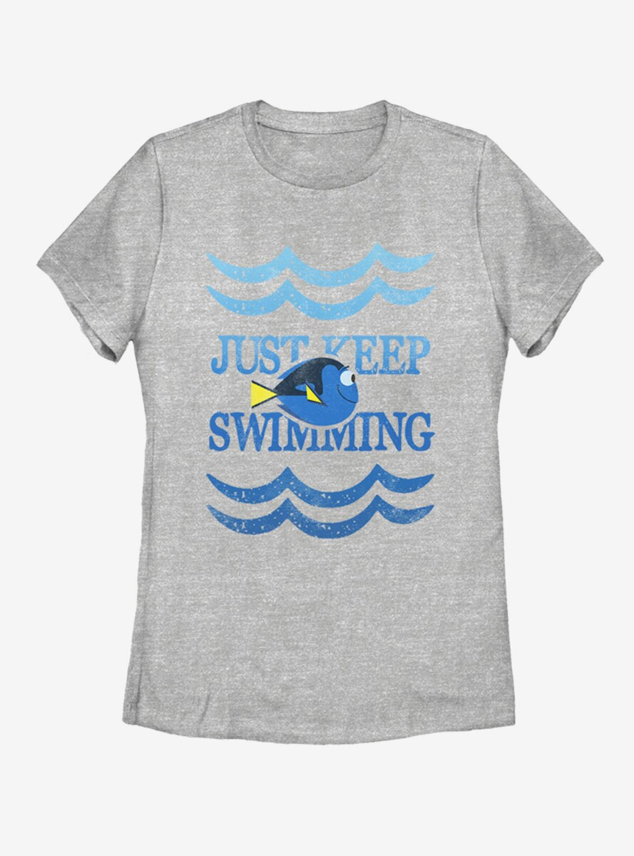 Disney Pixar Finding Dory Just Swim Dory Womens T-Shirt