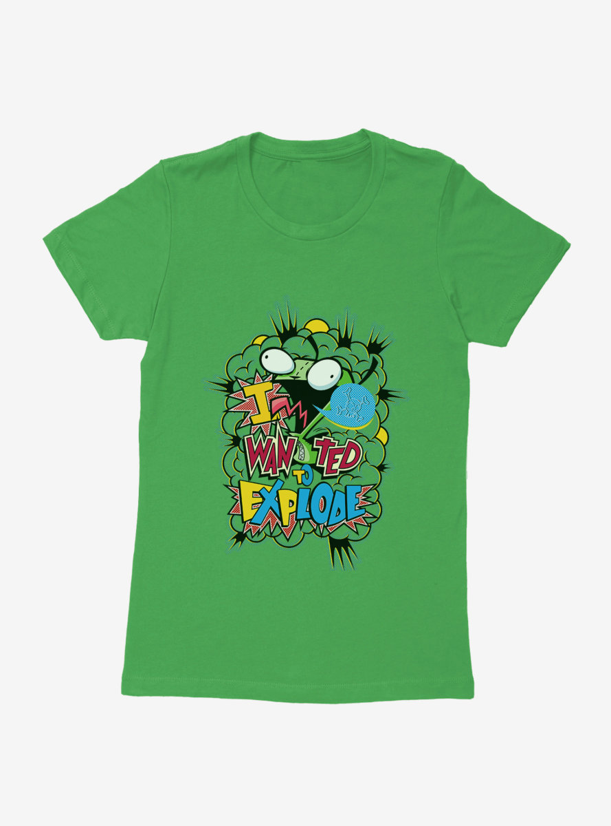 Invader Zim I Want To Explode Womens T-Shirt