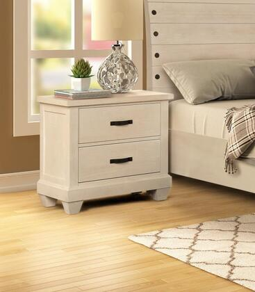 Sherwood Collection SH401-N Nightstand with 2 Drawers and Ball Bearing Glide in White