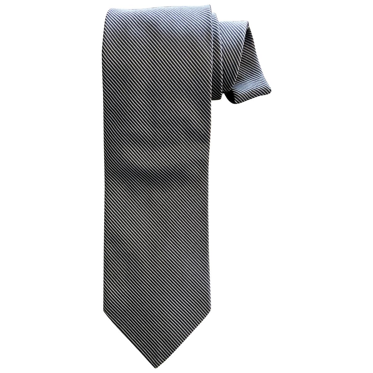 Salvatore Ferragamo \N Krawatten in  Grau Seide