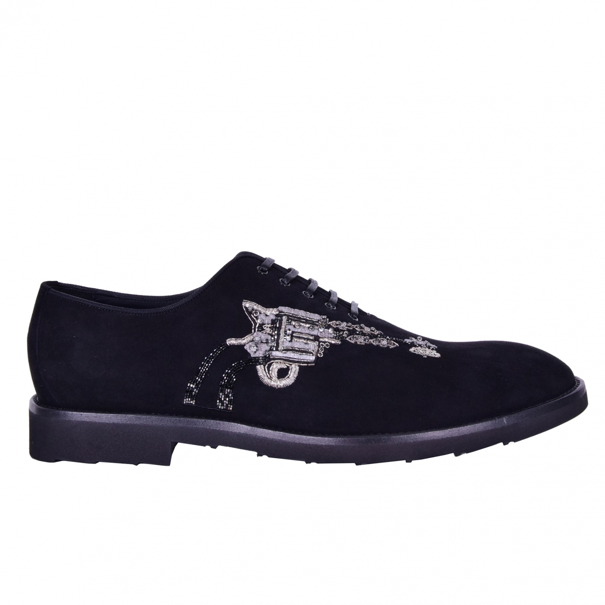 Dolce & Gabbana \N Black Suede Lace ups for Men 42 EU