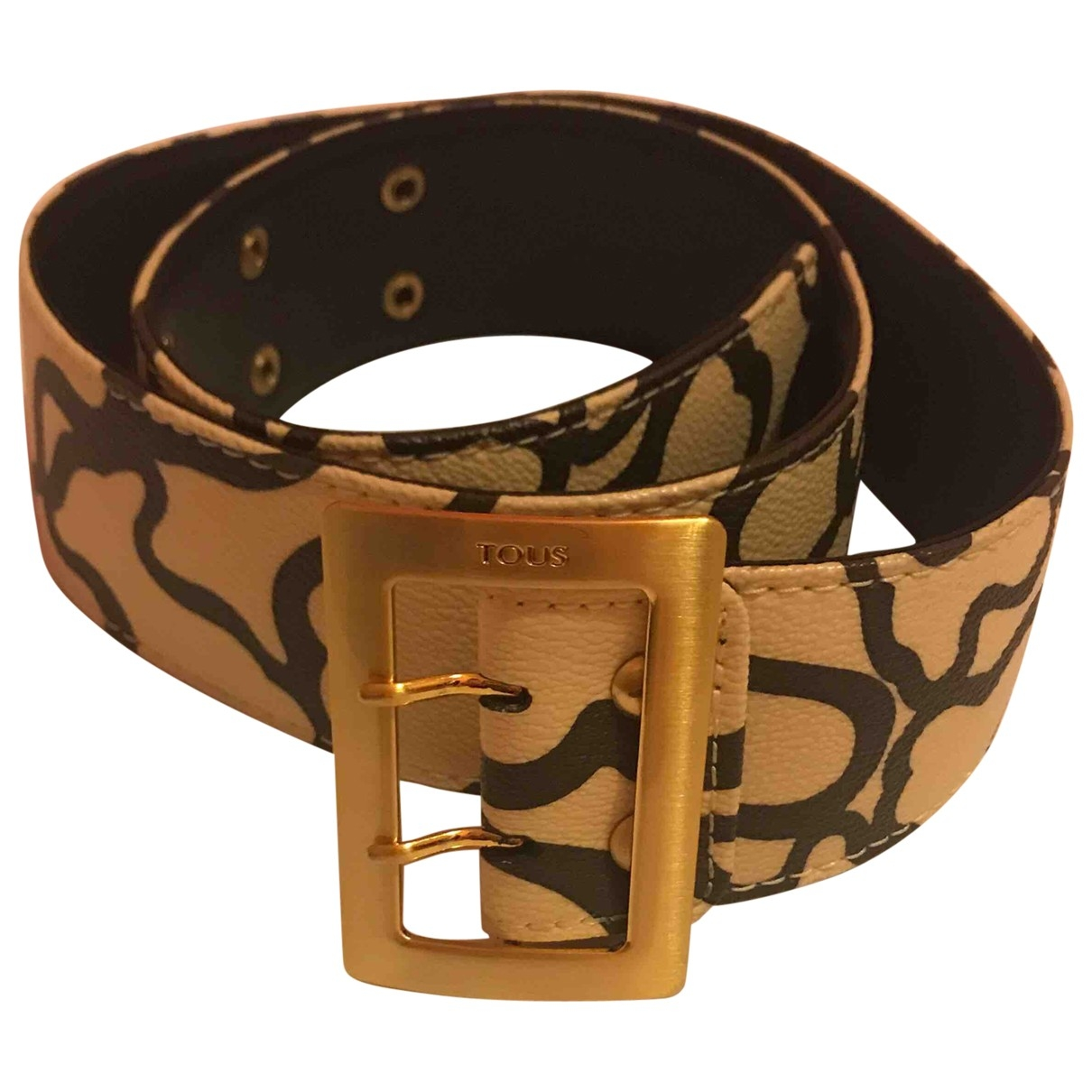 Atelier Tous \N Beige Leather belt for Women S International