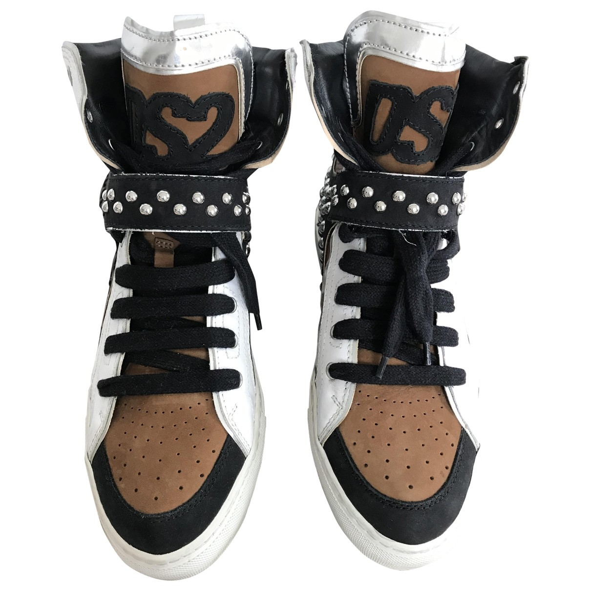 Dsquared2 \N Sneakers in  Braun Leder