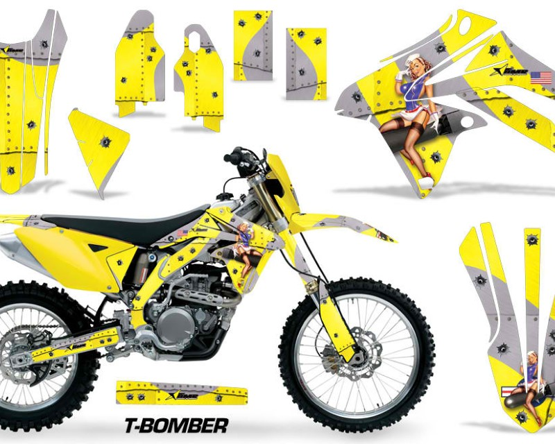 AMR Racing Dirt Bike Graphic Kit Decal Sticker Wrap For Suzuki RMX450Z 2009-2017áTBOMBER YELLOW