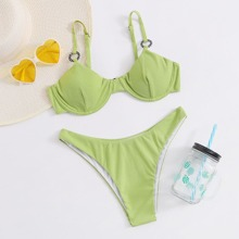 Traje de baño bikini con aros