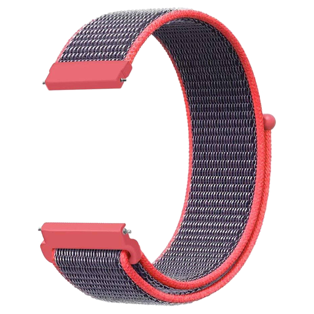 Replacement Watch Band for Huami Amazfit GTR 47MM Loop Nylon Canvas Strap - Blue & Red