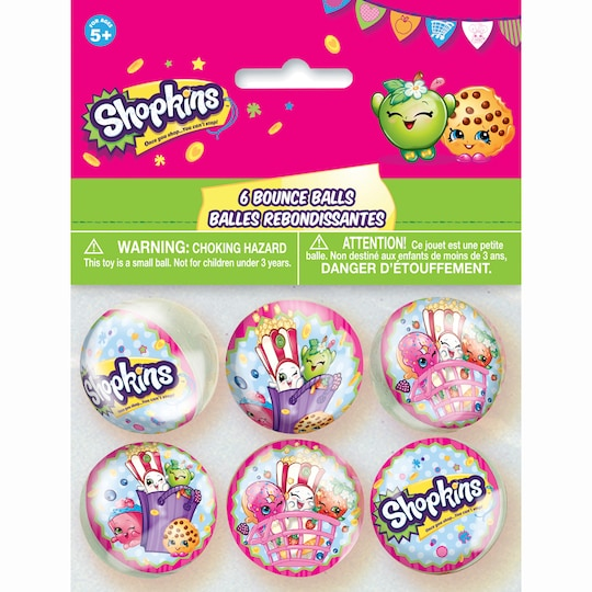 2 Pack of Shopkins Bouncy Ball Party Favors, 6Ct   Michaels®