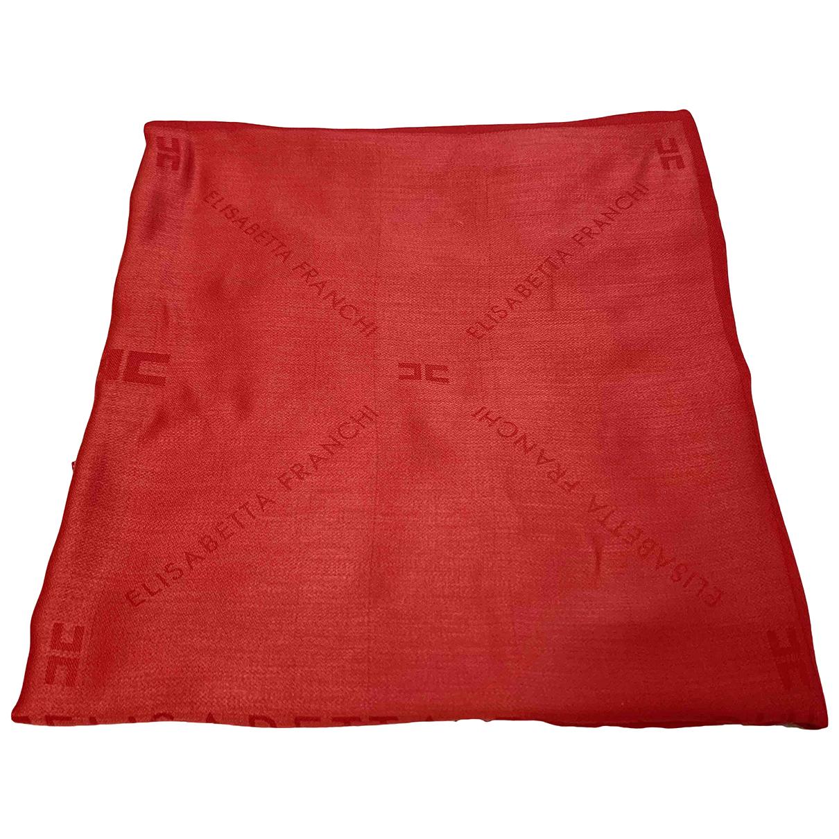 Elisabetta Franchi N Red Cotton scarf for Women N