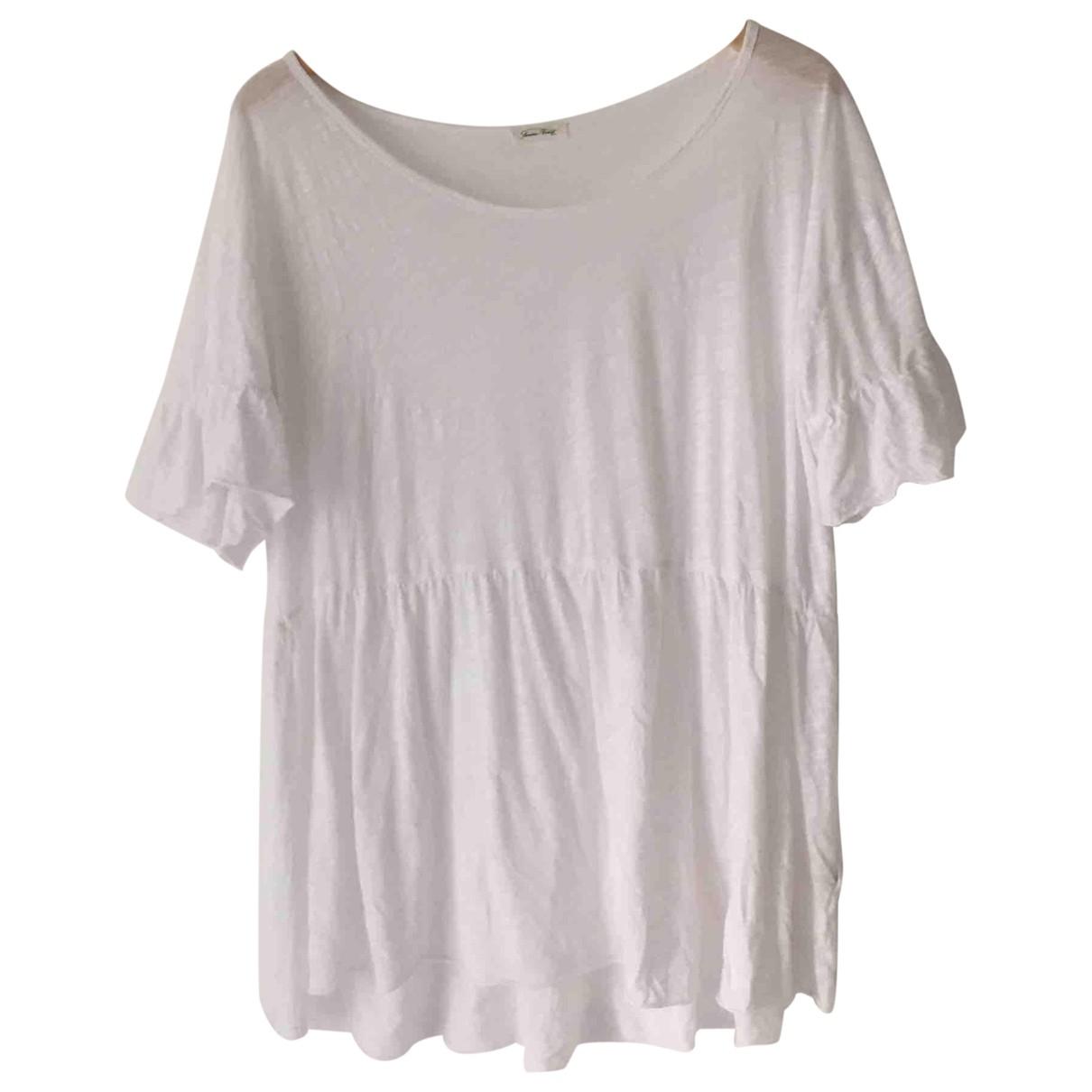 American Vintage \N White Cotton  top for Women XS International