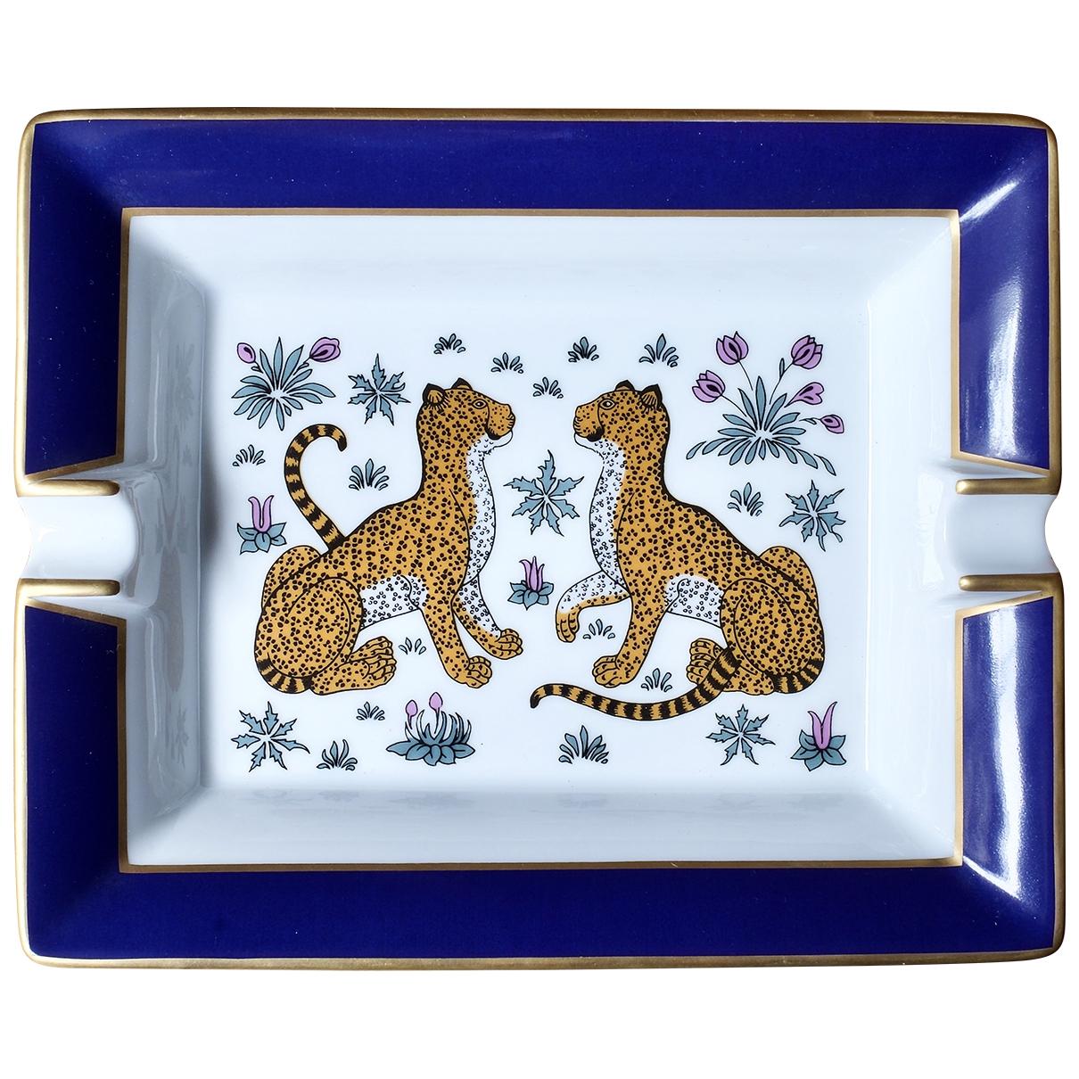 Hermes - Objets & Deco Les Leopards pour lifestyle en porcelaine - bleu