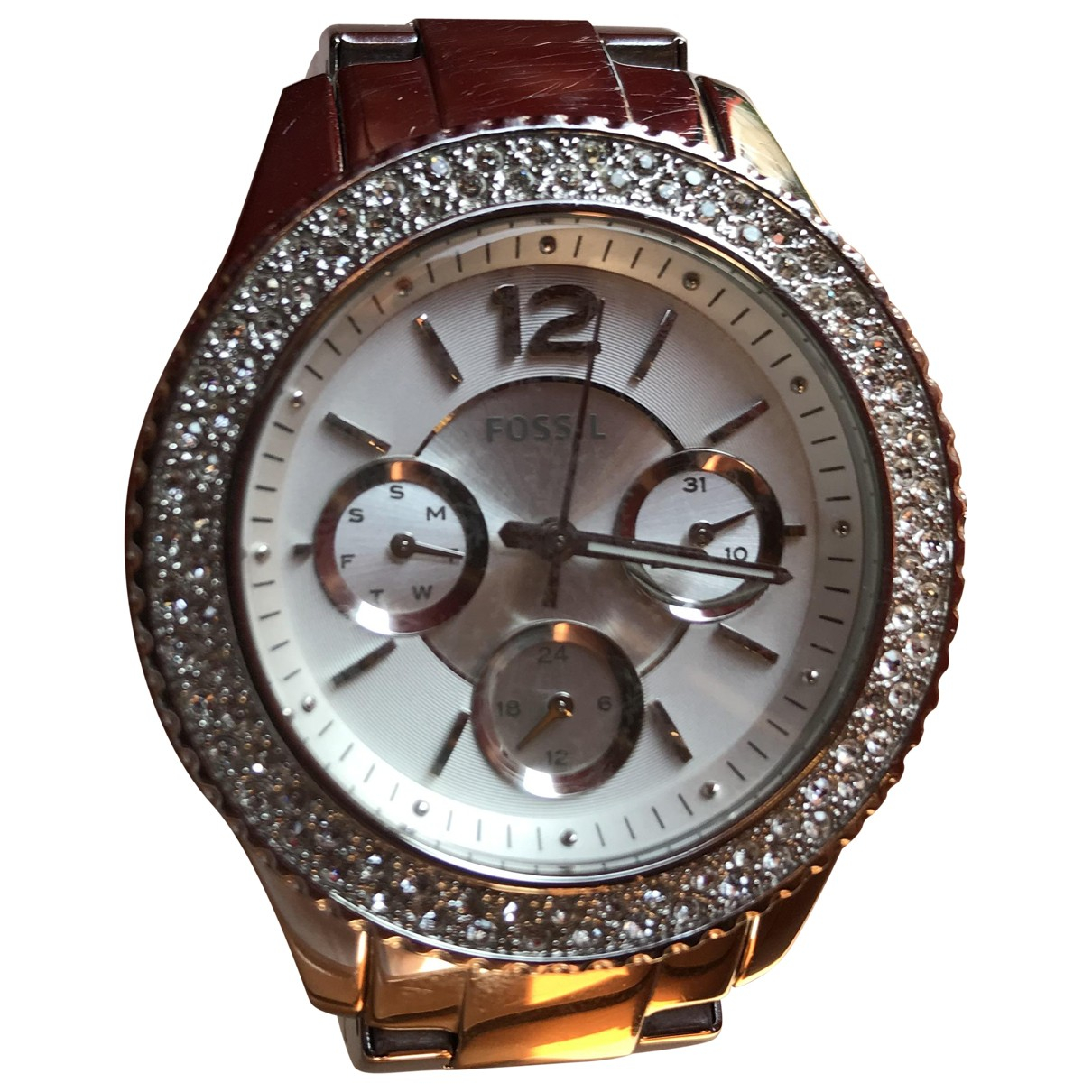 Fossil \N Silver Steel watch for Women \N