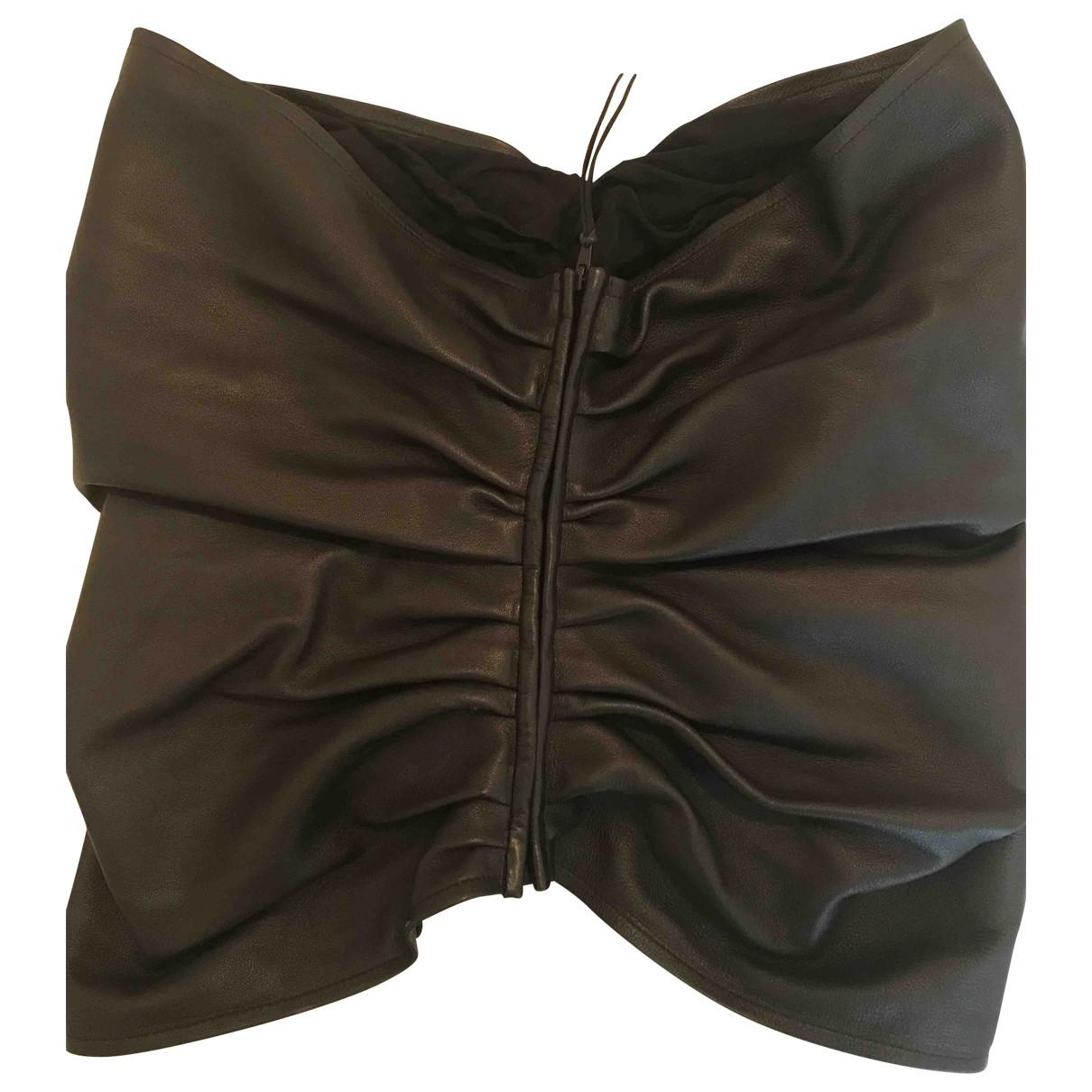 Maison Martin Margiela \N Brown Leather belt for Women L International