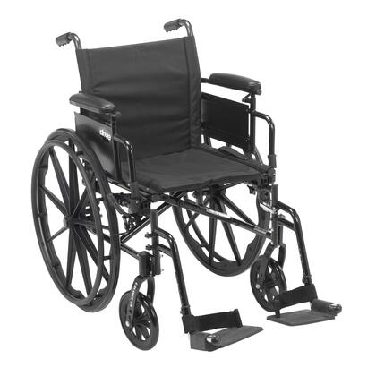 cx416adda-sf Cruiser X4 Lightweight Dual Axle Wheelchair With Adjustable Detachable Arms  Desk Arms  Swing Away Footrests  16