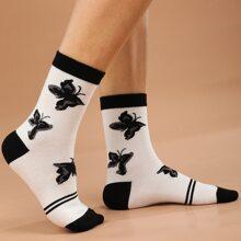 Butterfly Pattern Socks