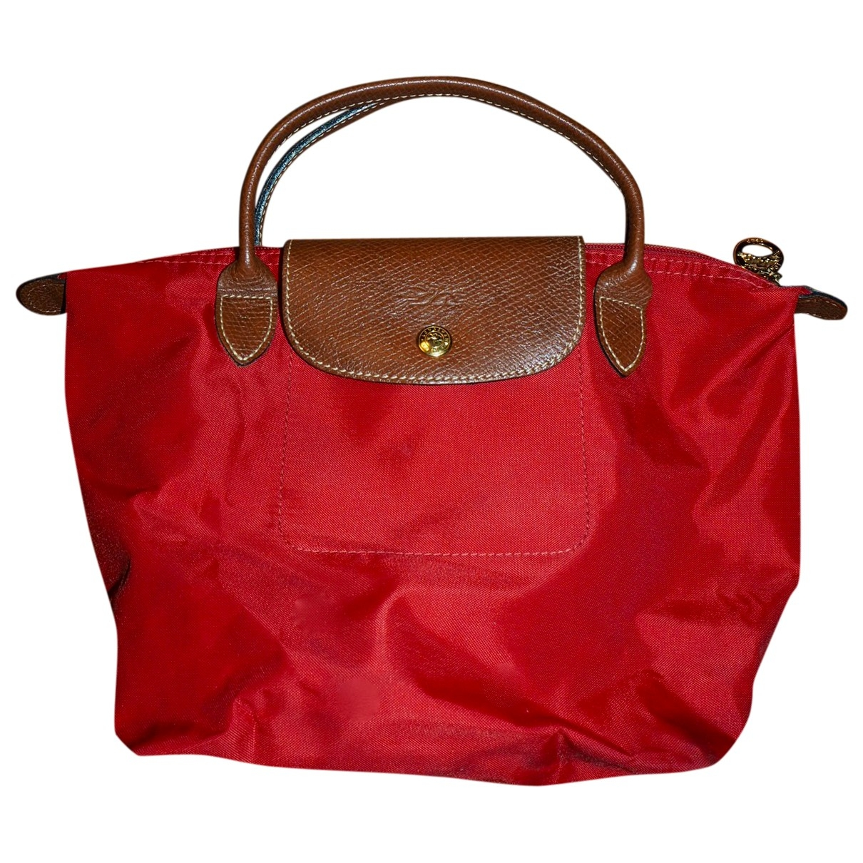 Longchamp Pliage  Handtasche in  Rot Synthetik