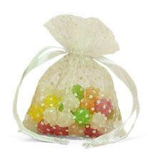 White Polka Dot Organza Bags - 4 X 5 - Quantity: 30 - Fabric Bags by Paper Mart