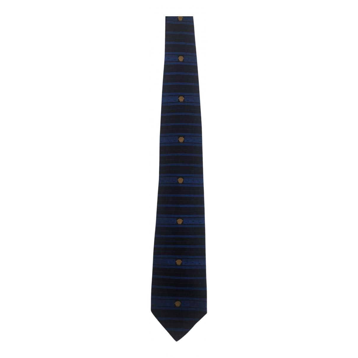 Gianni Versace - Cravates   pour homme en soie - bleu