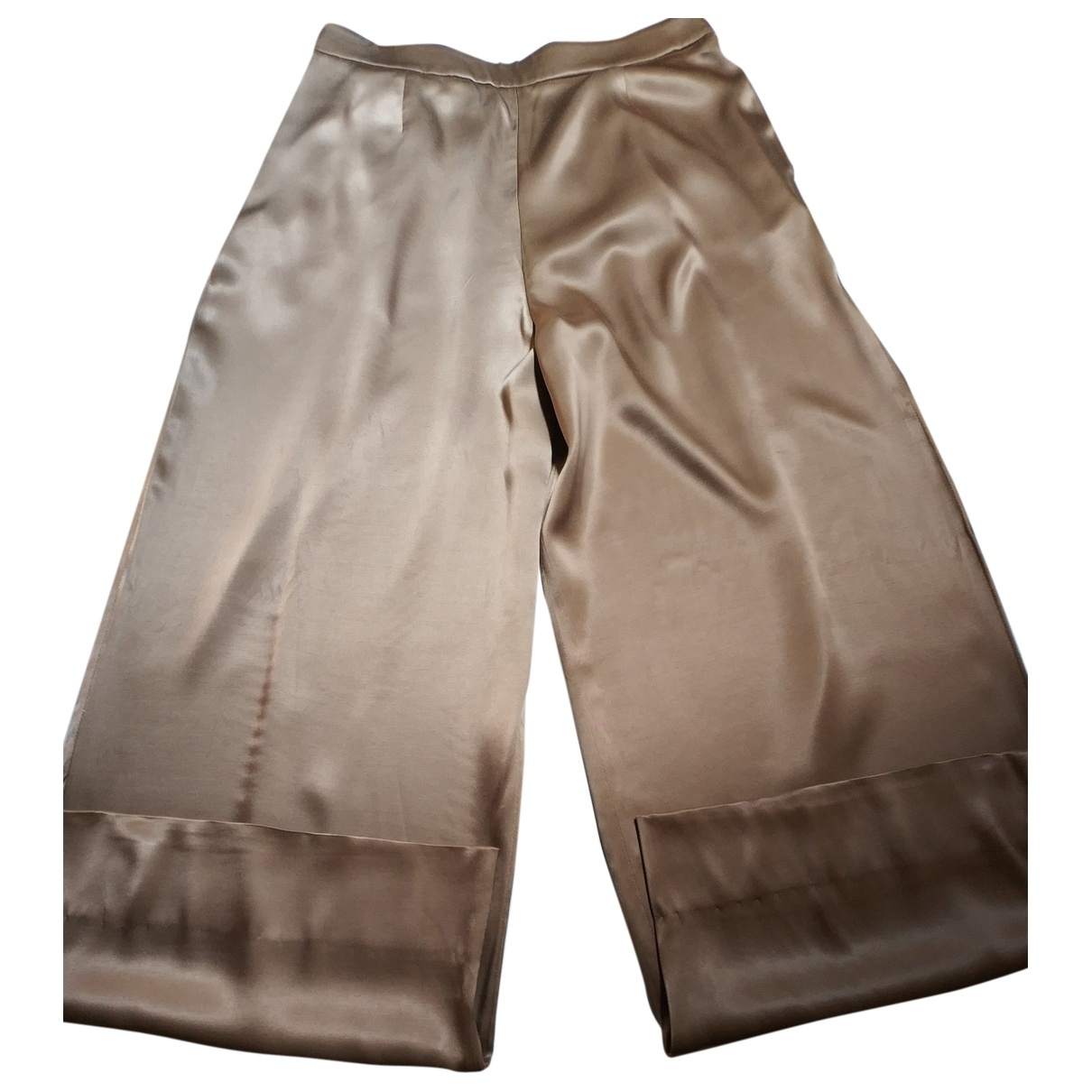 Uterque \N Camel Trousers for Women M International
