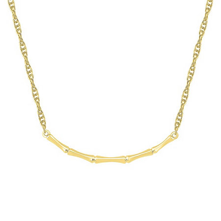 Womens 10K Gold Curved Pendant Necklace, One Size , No Color Family