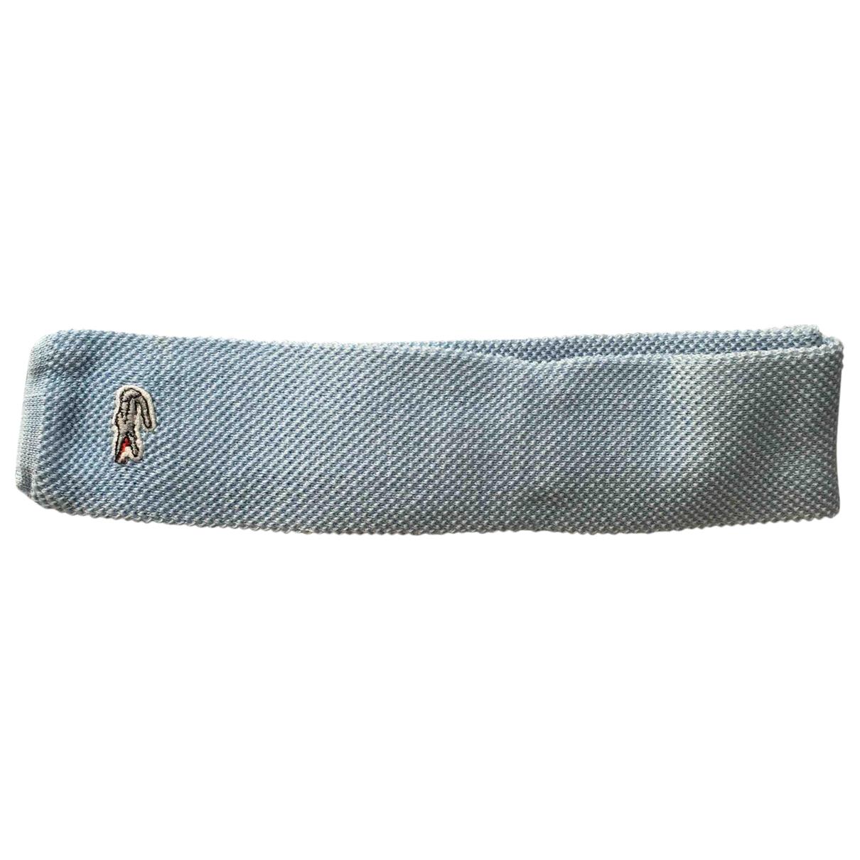 Lacoste \N Krawatten in  Blau Baumwolle